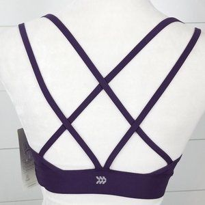 NWT All In Motion Sports Bra Size S Strappy